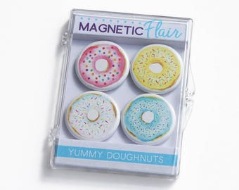 Donut Magnet Set, Foodie Gifts, Donut Gifts, Donut Lover, Gifts for Her, Gifts for Foodies, Food Magnet, Kitchen Magnet, Doughnut Gifts M006