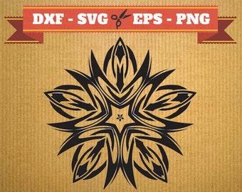 Format .dxf Celtic floral pattern - CNC file cutout - vectorial vinyl - clipart- Cricut- file Dxf Svg Eps Png