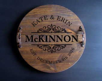 Wine Barrel Tray, Personalized Serving Tray,Personalized Wood Tray, Rustic Tray, Custom Serving Tray