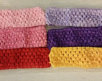 Crochet headbands, baby headbands, girls headbands, interchangeable headbands, bundle, you pick, mix and match headbands, item # S4JBH01