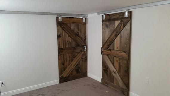 Basement barn doors sliding barn doors british brace for Basement sliding doors