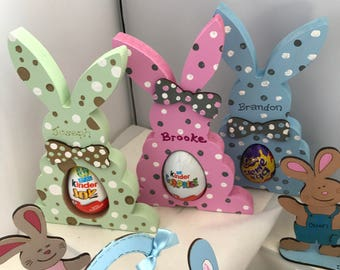Easter decorations etsy easter bunny egg holder easter decorations easter gifts personalised easter gifts negle Image collections