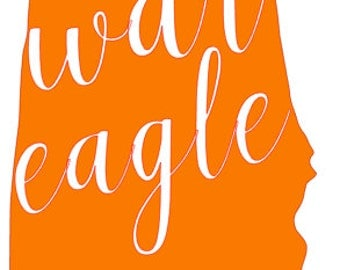 WAR EAGLE - State Decal/Shirt Design