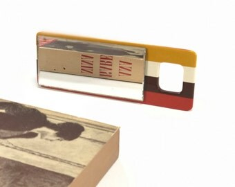 Vintage Pocket Mirror//Janeke//Italy//Handheld//Accessorize//1970s