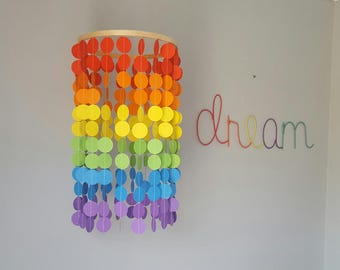 SALE Rainbow Baby Mobile, Baby Mobiles, Nursery Decor, Party decoration, Rainbow Decor, Multicoloured, Polka Dot, Crib Mobile