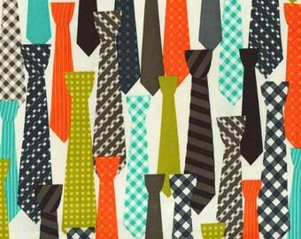 Ties in Starfruit  - HALF YARD - Michael Miller - Cotton Fabric - Quilting Fabric - Urban Mod