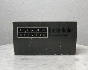 Sears Kenmore Buttonholer // Buttonhole Accessory // Buttonholer // Sears Sewing Accessory // Kenmore Sewing Machine Accessories