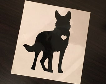 Love German Shepard  Car Decal