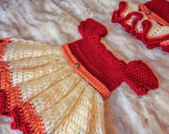 Lara Crocheted Hat and Dress Set