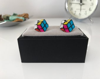 Rubiks Cube CuffLinks - Ideal gift For Wedding - Groom - Father of the Bride