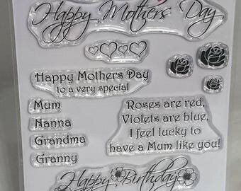 Dear Mum - A6 Stamp Set by Imagine Design Create