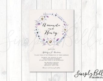 Wedding Invitation DIGITAL DOWNLOAD