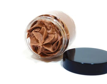 Chocolate Whipped Soap - Body Whip - Whipped-Soap - Shaving Soap - Luxury Soap - Whipped Sugar Scrub - Cream Soap - Gift for Her