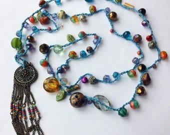 Sofia Dreamcatcher Beaded Necklace
