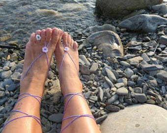 Decorations for the feet, Barefoot Sandals crochet