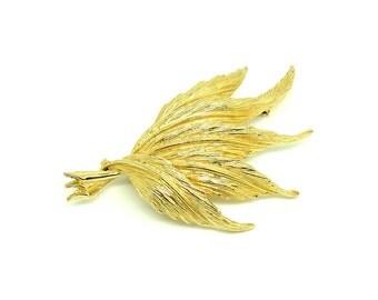 Vintage 1960's Mode-Art Brooch | Vintage Leaf Brooch | Gold Brooch | Leaf Brooch | Statement Brooch | Gold Pin | Floral Brooch | Vintage Pin