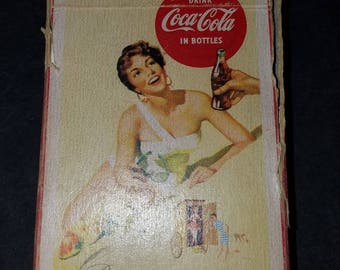 Vintage 1956 Coca Cola Playing Cards Complete with 2 Jokers