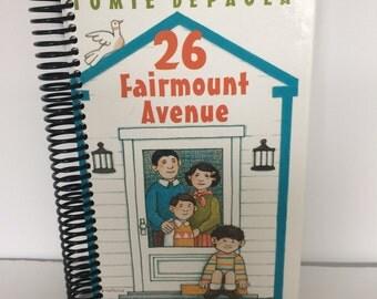 Handmade Repurposed Vintage Journal Autism Awareness