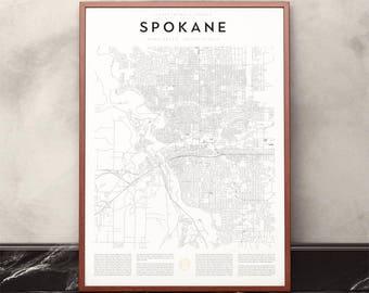 Spokane Map Print