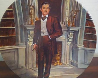 "Collector Plates, Number Four in a series of 9, ""Rhett"", from Gone With The Wind by Knowles"