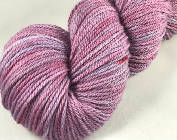 "Featured listing image: Hand Dyed Worsted Yarn, 100% Merino Wool, 250 Yards, 100g ""Purple Princess"""