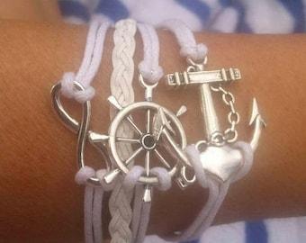 White Nautical Wrap Bracelet