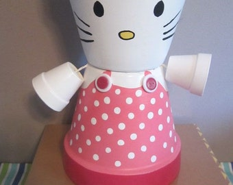 Hello Kitty Terra Cotta Pot