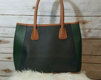 Vintage, 1990's, Neiman Marcus pebbled leather tote