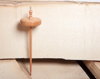 Drop Spindle   Top Whorl   Hand Crafted Drop Spindle   Hardwood   Cherry Wood