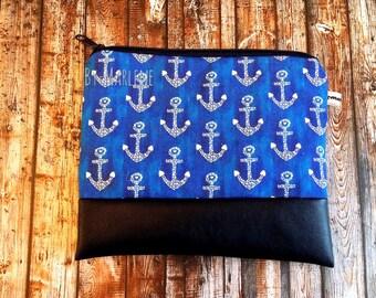 Pencil case / cosmetics bag • anchor •