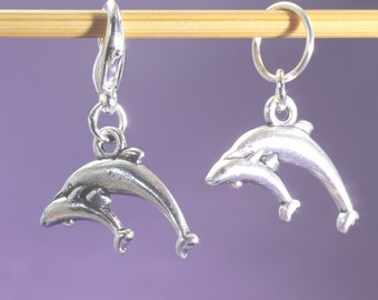 Dolphin Mother and Baby Knitting or Crochet Stitch Marker, Knitting Marker, Crochet Marker, Knitting Tools, Crochet Tools, Gift for Knitters