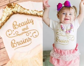 Baby Girl Princess Shirt, Beauty and Brains, Fairy Tale Princess, Princess for a Day, Daddy's Princess, I'm 99% Sure I'm a Princess