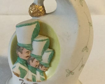 1979 Edward J Rohm Christmas Toy Soldiers Porcelain Bell