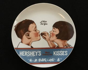 """Vintage 1979 Hershey Kiss """"A Kiss For You"""" Ceramic Collectors Plate"""