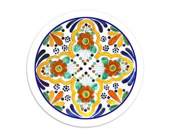 Dibujo - Talavera sticker seals - 1.5 inch round stickers - pack of 8