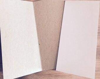 Blank Cards 10 x 21cm (fit in DL envelope)