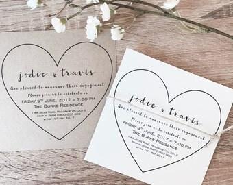 Personalised Engagement Invitations