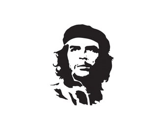 Che Guevara Decal, Wall Decal, Che Guevara, Portrait, Revolution, Home Decor