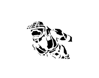 Halo Decal - Master Chief / Gamer Decal / Master Chief Helmet / Armor