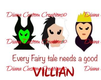 Every Fairytale needs a villain cricut silhouette