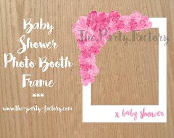 baby shower photo booth frame instant download printables photo