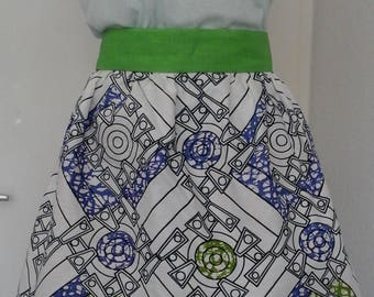 Wax linen belt skirt