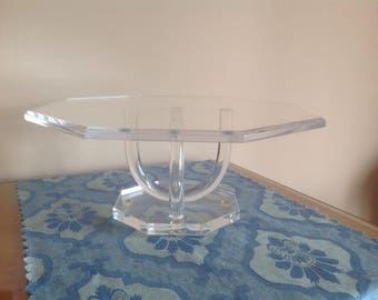 Lucite Cake Stand Pedestal