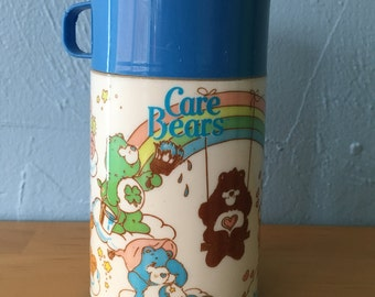 Vintage Care Bears Thermos, 1985 Alladin Thermos Blue