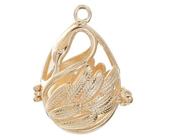 Oil Diffuser Pendant Swan for Aromatherapy or Angel Caller Ball (1564)