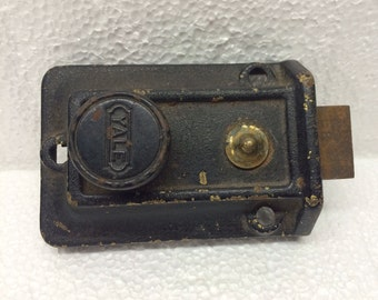 Vintage Yale Deadbolt Lock Dead Bolt Door Spring Lock Architectural Salvage #334