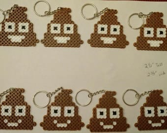 Poop Emoji party favor pack - Set of 8 keychains or zipper pulls