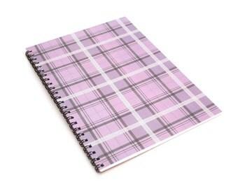 Purple Pastel Tartan A5 Notebook
