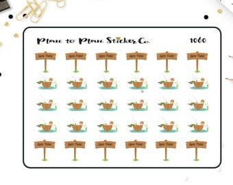 1060~~Gone Fishing Day Planner Stickers