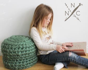 Kit - Naturally Nora Extreme Finger Crochet Cushion - Everything you need to make this cushion in your choice of colour